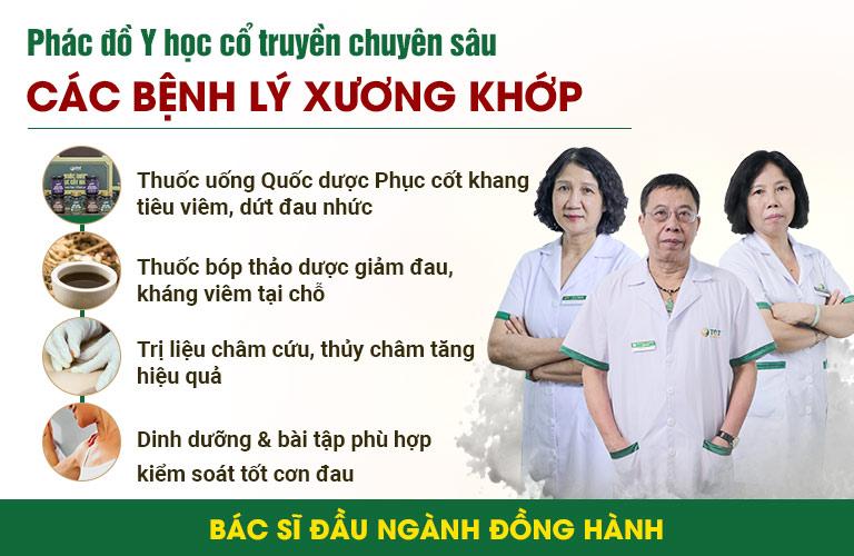 Phác đồ xương khớp hoàn chỉnh ứng dụng tại Trung tâm Thuốc dân tộc