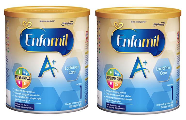 Sữa bột Enfamil A+ Lactofree Care rất phù hợp cho trẻ 0 - 10 tháng gặp các vấn đề về tiêu hóa