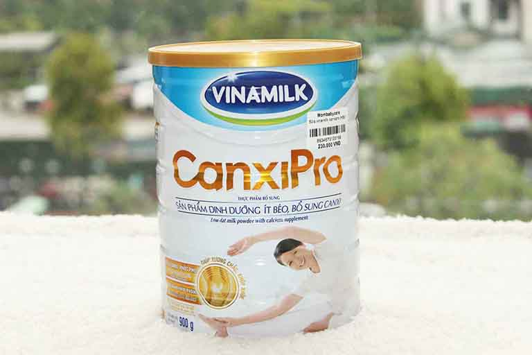 Sữa loãng xương Vinamilk Canxi Pro được người trung niên ưa dùng hiện nay