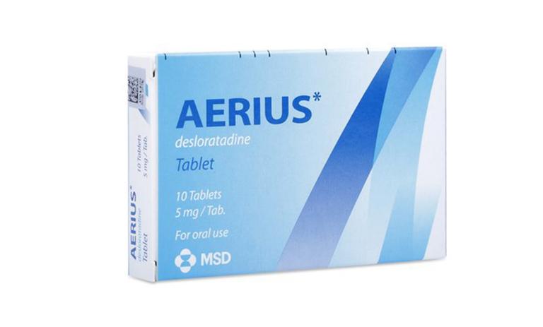 Thuốc Aerius được chỉ định để điều trị dị ứng viêm mũi, dị ứng ngoài da.