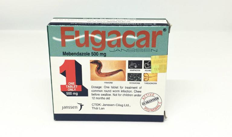 Thuốc Fugacar là thuốc tẩy giun, có thể điều trị chứng nhiễm giun đũa, giun kim, giun móc,...