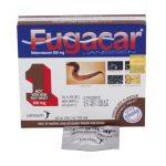 Thuốc Fugacar được bào chế ở dạng viên nén nhai. Người dùng nhai thuốc trước khi nuốt.