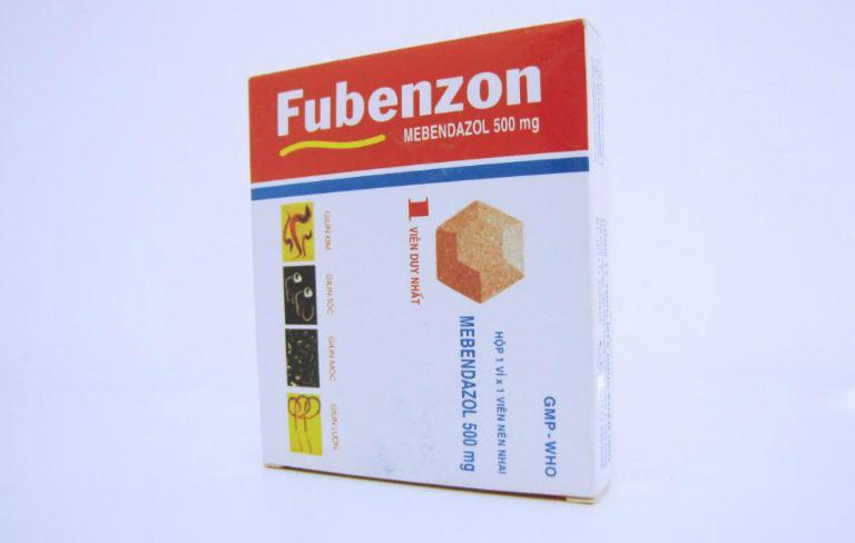 Thuốc tẩy giun Fubenzon dành cho trẻ nhỏ, có thể uống vào bất cứ lúc nào trong ngày.