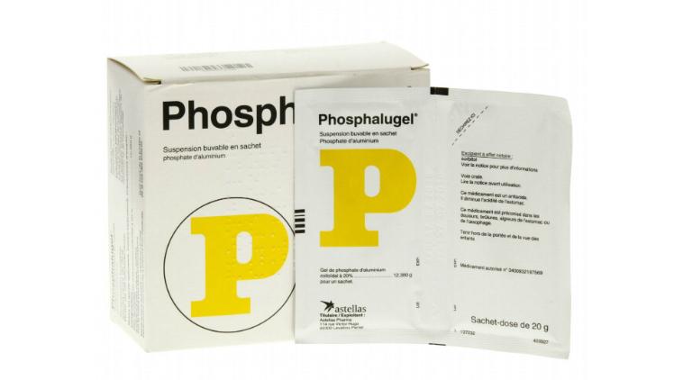 Thuốc chữ P vàng Phosphalugel có khả năng điều trị hiệu quả chứng đầy bụng, khó tiêu.