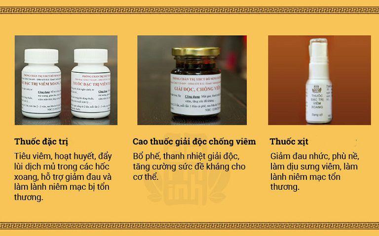Liệu trình bài thuốc viêm mũi dị ứng Đỗ Minh Đường gồm thuốc uống (dạng cao và viên hoàn) kết hợp với thuốc dung dịch xịt