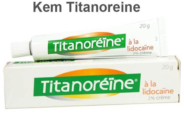Kem Titanoreine có tác dụng làm giảm các triệu chứng của bệnh trĩ gây ra