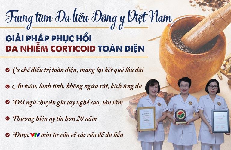 Những ưu điểm nổi bật của phương pháp phục hồi da nhiếm corticoid tại Trung tâm Da liễu Đông y Việt Nam