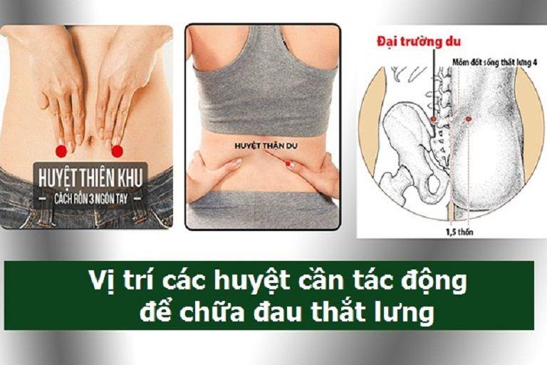 các vị trí bấm huyệt chữa đau lưng