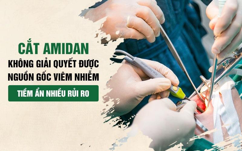 Phẫu thuật không phải là giải pháp tối ưu cho viêm amidan mãn tính