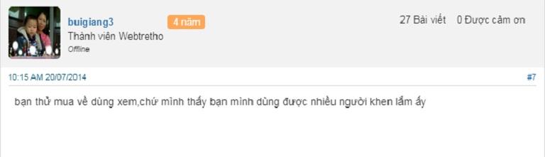 Viên uống Hoa Thiên trên webtretho