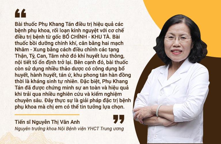 Chuyên gia nhận định về bài thuốc ĐỘC QUYỀN của Trung tâm Phụ khoa Đông y Việt Nam
