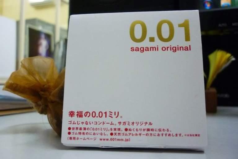 Sagami Original 0.01 là dòng bao cao su mỏng nhất thế giới