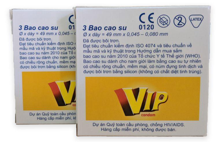 Bao cao su Vip Plus là bao cao su có xuất xứ từ Malaysia, giá thành vừa phải, chất lượng tốt.
