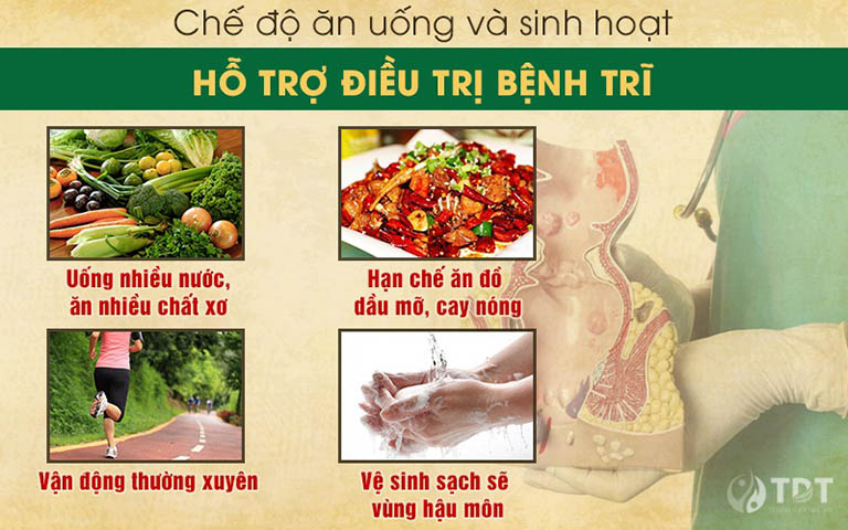 nguyên tắc trong ăn uống và sinh hoạt giúp đẩy lùi bệnh trĩ