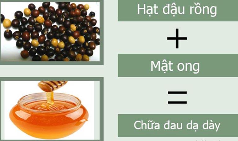 Kết hợp hạt đậu rồng và mật ong giúp nâng cao hiệu quả điều trị đau dạ dày