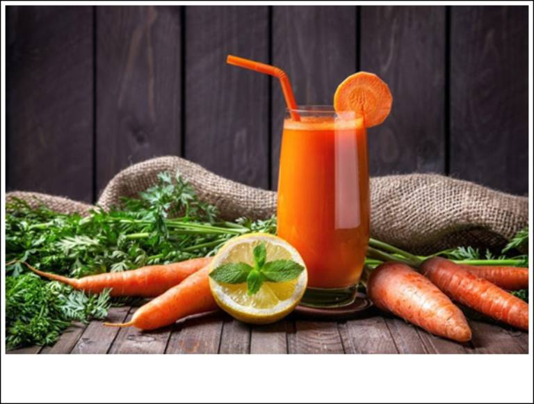 Nước ép cà rốt bạc hà tốt cho người mắc bệnh dạ dày