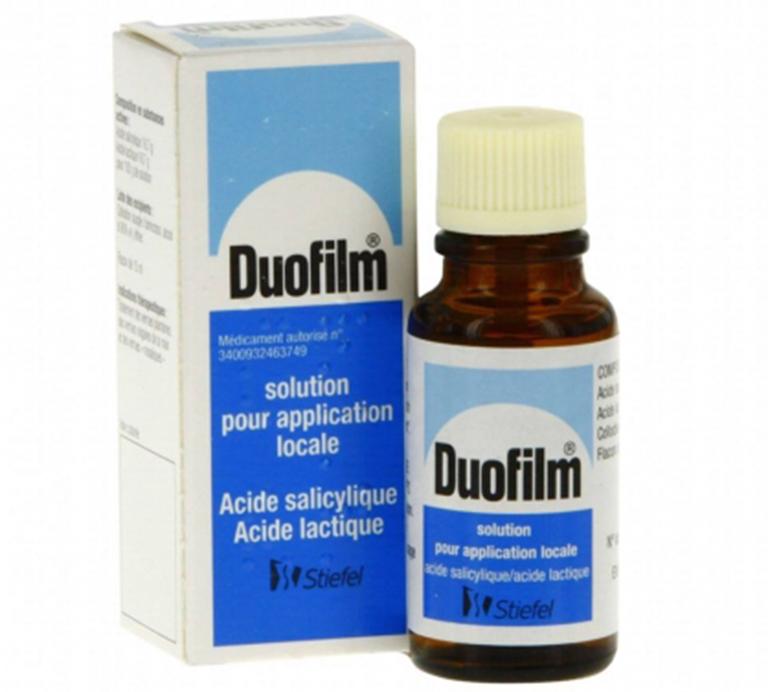 Thuốc Duofilm 15ml có hoạt tính kiềm khuẩn, tiêu sừng, tạo ra sự phá hủy chậm dùng để điều trị mụn cóc