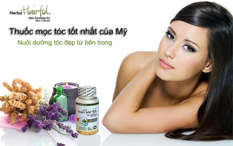 Thuốc mọc tóc Herba Hairful của Mỹ bổ sung vitamin và khoáng chất giúp tóc chắc khỏe