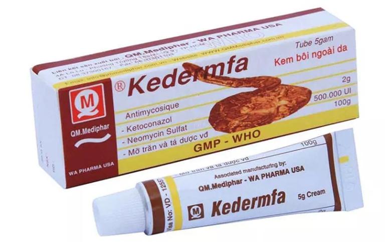 Thuốc trị hắc lào Kedermfa có tác dụng làm giảm các triệu chứng của bệnh