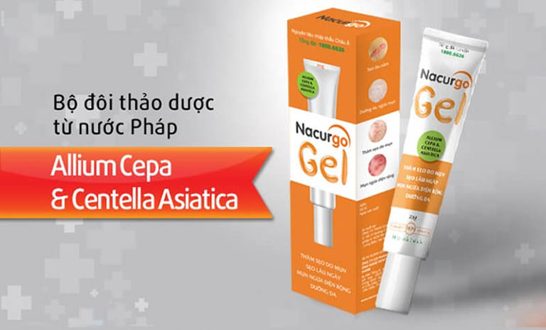 Nacurgo Gel giảm tình trạng viêm nang lông