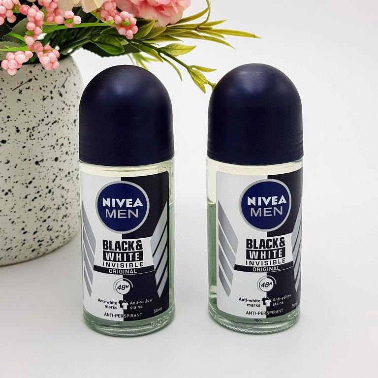 Lăn khử mùi nam Nivea Men Invisible For Black & White