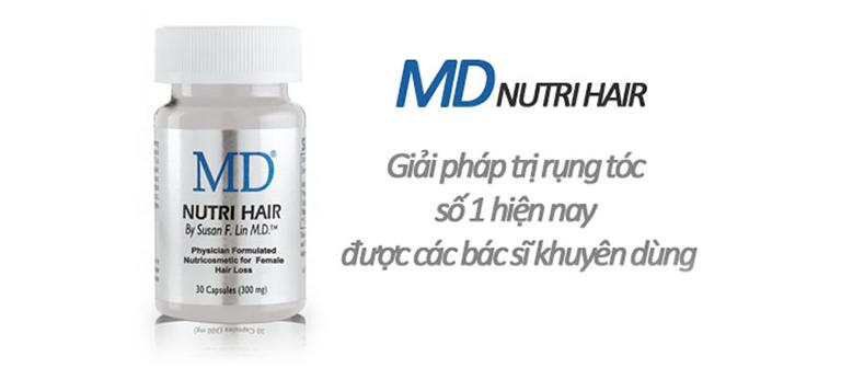 Viên uống mọc tóc MD Nutri Hair của Mỹ mang lại hiệu quả tốt được chuyên gia khuyên dùng