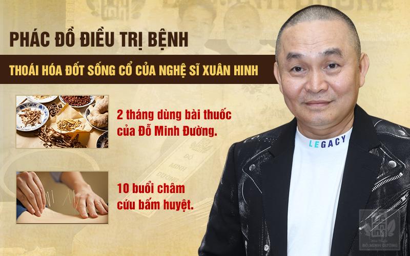 Phác đồ điều trị thoái hóa đốt sống cổ cho nghệ sĩ Xuân Hinh tại nhà thuốc Đỗ Minh Đường