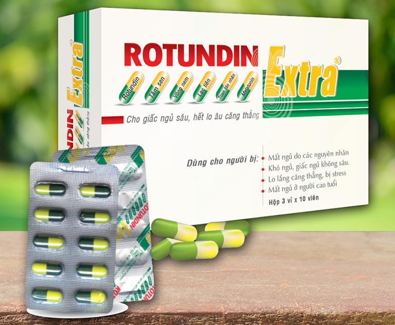 Thuốc Rotunda thường được dùng điều trị mất ngủ trong các trường hợp lo âu, căng thẳng