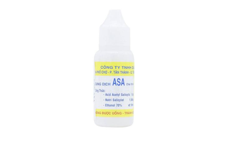 Thuốc ASA ở dạng dung dịch được dùng để sát khuẩn, điều trị hắc lào, lang beng, nấm,...