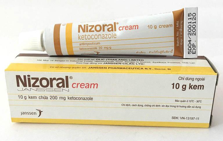Thuốc bôi lang ben Nizoral