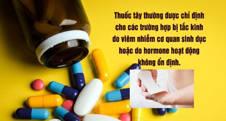 Thuốc Tây y chữa tắc kinh