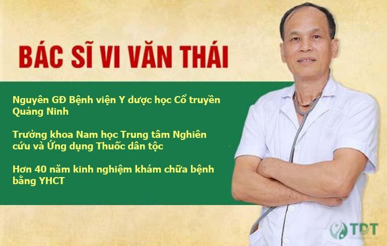 Bác sĩ tư vấn sinh lý Vi Văn Thái