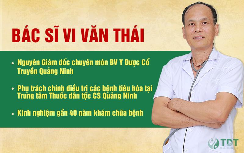 Bác sĩ CK I Vi Văn Thái phụ trách điều trị bệnh dạ dày tại Trung tâm Thuốc dân tộc