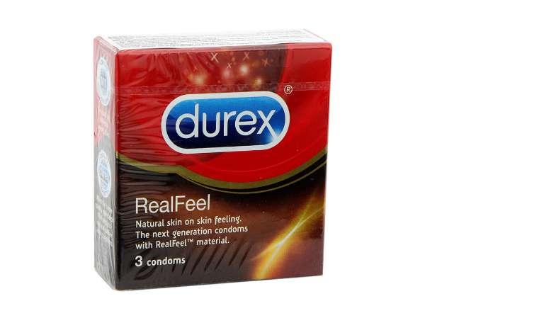 Hình ảnh bao cao su Durex Real Feel chính hãng.