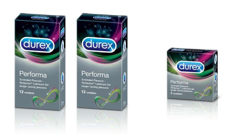 Hình ảnh bao cao su Durex chính hãng giúp kéo dài thời gian quan hệ.