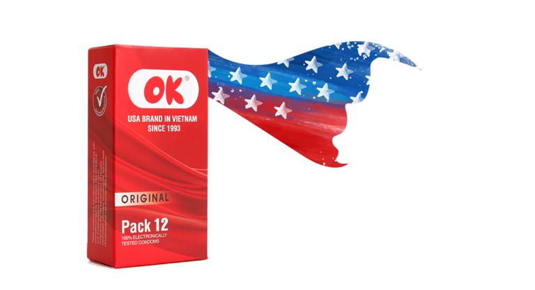 Bao cao su OK là sản phẩm có nguồn gốc từ Hoa Kỳ, đã được nhập khẩu vào thị trường Việt Nam từ nhiều năm nay.