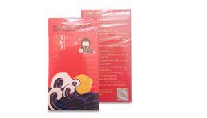 Bao cao su siêu mỏng chống xuất tinh sớm Sasuke 5 in 1 có giá bán là 130.000 VNĐ/hộp.
