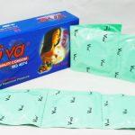 Mỗi hộp bao cao su Viva (12 cái) có giá bán 65.000 VNĐ.