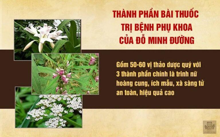 Bài thuốc Phụ Khang Đỗ Minh điều chế hoàn toàn từ thảo dược tự nhiên, nguồn gốc rõ ràng