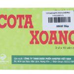 Thuốc Cota Xoang được bào chế ở dạng viên nang, dùng để điều trị bệnh viêm xoang, viêm đường hô hấp trên.