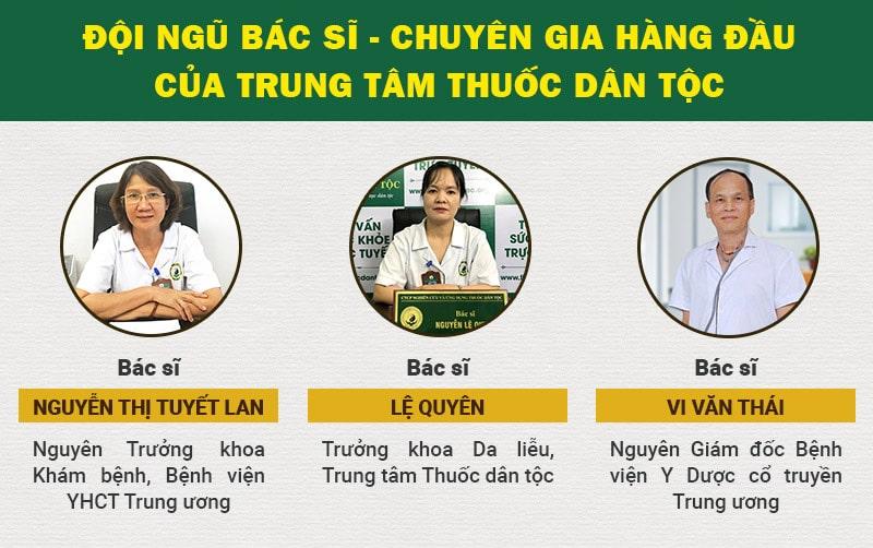 đội ngũ bác sĩ của Trung tâm Thuốc dân tộc