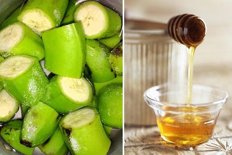 chữa bệnh dạ dày bằng chuối hột và mật ong