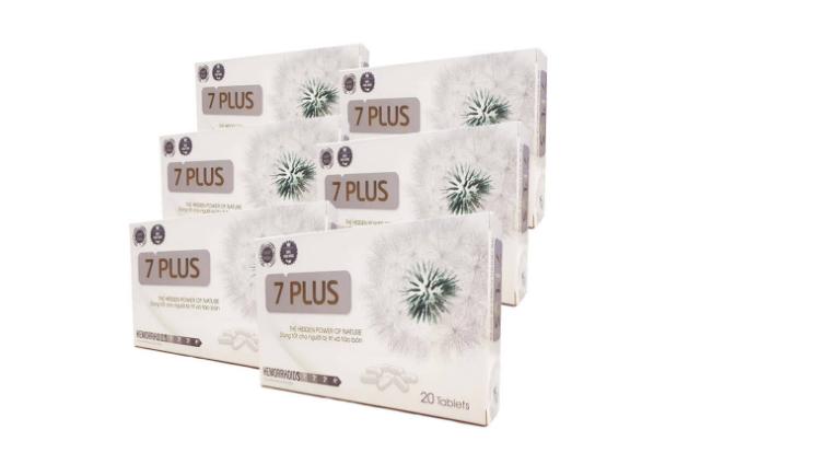 Siêu Trĩ 7 Plus được trình bày, đóng gói trong hộp giấy đẹp mắt, có giá 200.000 VNĐ/hộp.