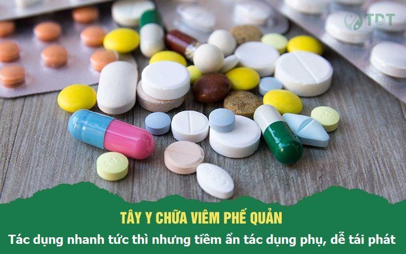 chữa viêm phế quản bằng thuốc Tây