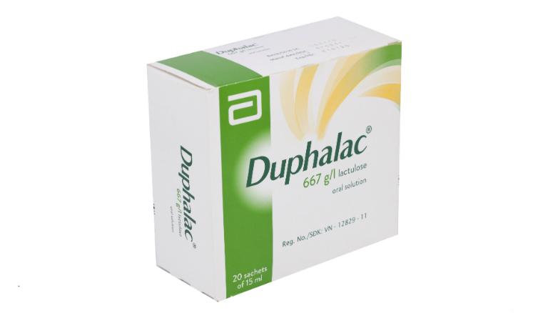 Thuốc Duphalac có tác dụng nhuận tràng, điều trị chứng táo bón.