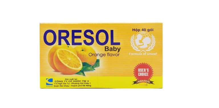 Một số loại thuốc Oresol có bổ sung hương vị cam, chanh,...
