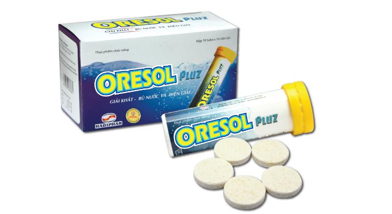 Trên thị trường hiện nay còn có thuốc Oresol ở dạng viên sủi, tiện dụng.