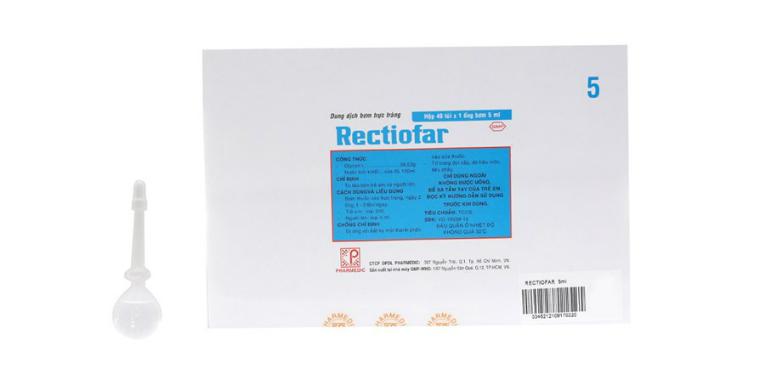 Thuốc Rectiofar là thuốc điều trị táo bón.