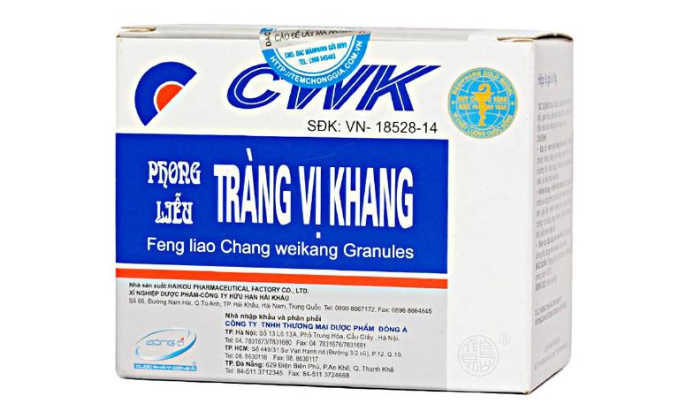 Dùng thuốc Tràng Vị Khang bằng cách pha cốm thuốc với nước ấm để uống.