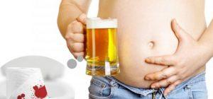 uống nhiều rượu bia đi ngoài ra máu